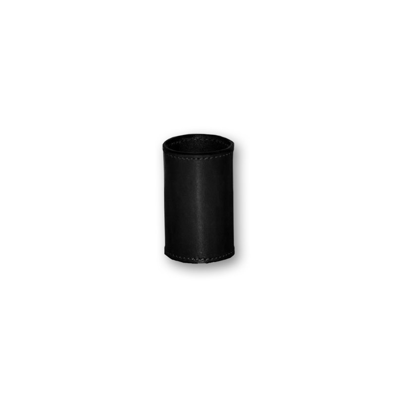LEATHER COIN CYLINDER (Noir Demi Dollar) wwww.magiedirecte.com
