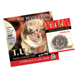 Tango Ultimate Coin (T.U.C)(D0109) Eisenhower Dollar with instructional DVD by Tango - Trick wwww.magiedirecte.com