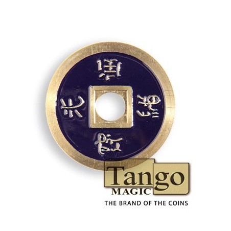 Normal Chinese Coin made in Brass (Dark Purple) by Tango-Trick (CH014) wwww.magiedirecte.com