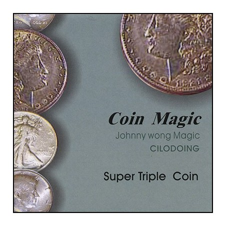 Super Triple Coin (with DVD) by Johnny Wong - Trick wwww.magiedirecte.com