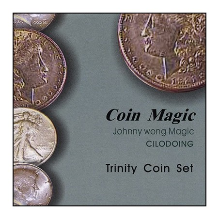 Trinity Coin Set (with DVD) by Johnny Wong - Trick wwww.magiedirecte.com