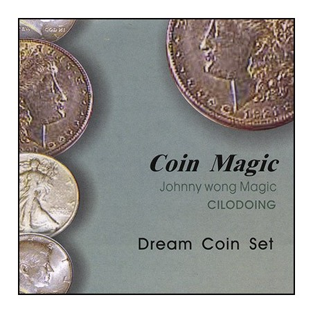 Dream Coin Set (with DVD) by Johnny Wong - Trick wwww.magiedirecte.com