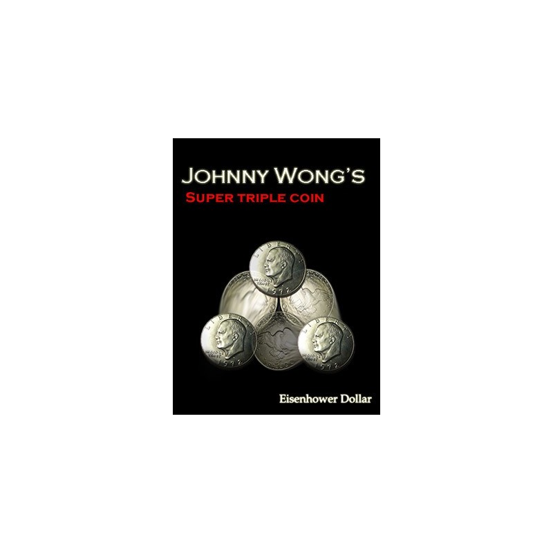 Super Triple Coin Eisenhower Dollar (with DVD) by Johnny Wong - Trick wwww.magiedirecte.com