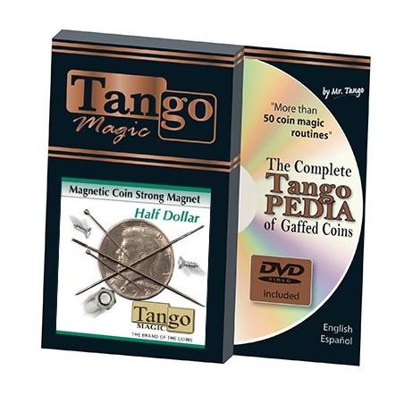 Strong Magnetic Half Dollar (w/DVD)(D0112) by Tango - Trick wwww.magiedirecte.com