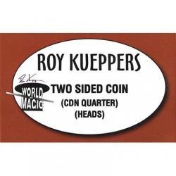 Two sided Canadian Quarter - (Heads) - Trick wwww.magiedirecte.com