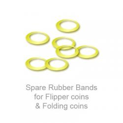 Spare Rubber Bands for Flipper coins & Folding coins - (25 per package) - Trick wwww.magiedirecte.com