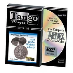 Tango Silver Line Expanded Shell Walking Liberty (w/DVD) (D0005) by Tango - Trick wwww.magiedirecte.com