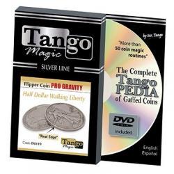 Tango Silver Line Flipper Pro Gravity Walking Liberty (w/DVD) (D0119) by Tango - Trick wwww.magiedirecte.com