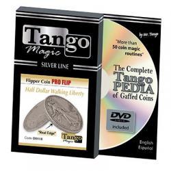 Tango Silver Line Flipper Pro Flip Walking Liberty (w/DVD)(D0118) by Tango - Trick wwww.magiedirecte.com