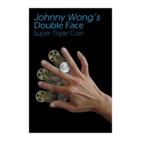 Double Face Super Triple Coin (with DVD) by Johnny Wong - Trick wwww.magiedirecte.com