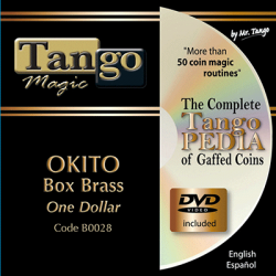 OKITO COIN BOX - BRASS (One Dollar) - Tango wwww.magiedirecte.com