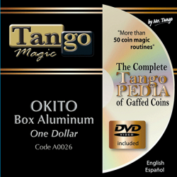OKITO COIN BOX - Aluminum (One Dollar) - Tango wwww.magiedirecte.com