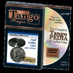 TANGO SILVER LINE EXPANDED SHELL SILVER (Half Dollar 1964) wwww.magiedirecte.com