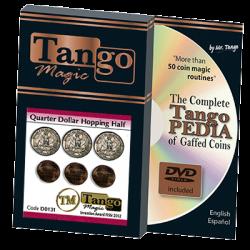 Hopping Half with Quarter (w/DVD) (D0131) by Tango - Trick wwww.magiedirecte.com