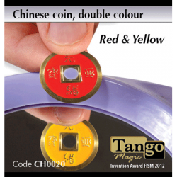 CHINESE COIN  ROUGE & JAUNE - Tango wwww.magiedirecte.com