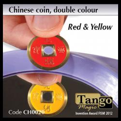 CHINESE COIN  ROUGE & JAUNE - Tango wwww.magiedirecte.com