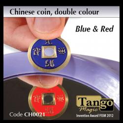 CHINESE COIN  BLEU & ROUGE - Tango wwww.magiedirecte.com