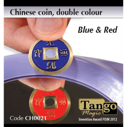 Chinese Coin (CH0021) Blue & Red by Tango Magic - Tricks wwww.magiedirecte.com
