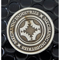 FULL DOLLAR COIN (Gun Metal Grey) - Mechanic Industries wwww.magiedirecte.com