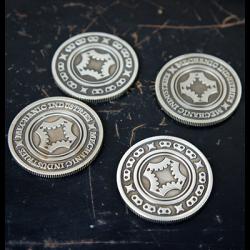FULL DOLLAR COIN (Gun Metal Grey) - Mechanic Industries wwww.magiedirecte.com