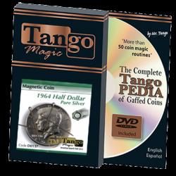 Magnetic Coin Half Dollar 1964 (w/DVD) (D0137) by Tango - Tricks wwww.magiedirecte.com