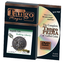 MAGNETIC COIN (Walking Liberty) - Tango wwww.magiedirecte.com