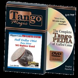 Flipper Coin Pro Elastic Half Dollar 1964 (w/DVD) (D0138) by Tango - Trick wwww.magiedirecte.com