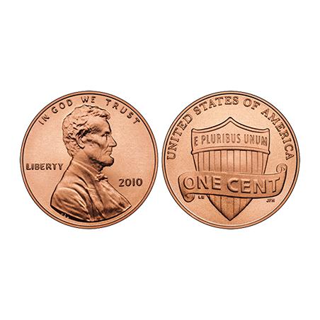 PENNY REGULAR ONE ROLL OF 50 COINS wwww.magiedirecte.com
