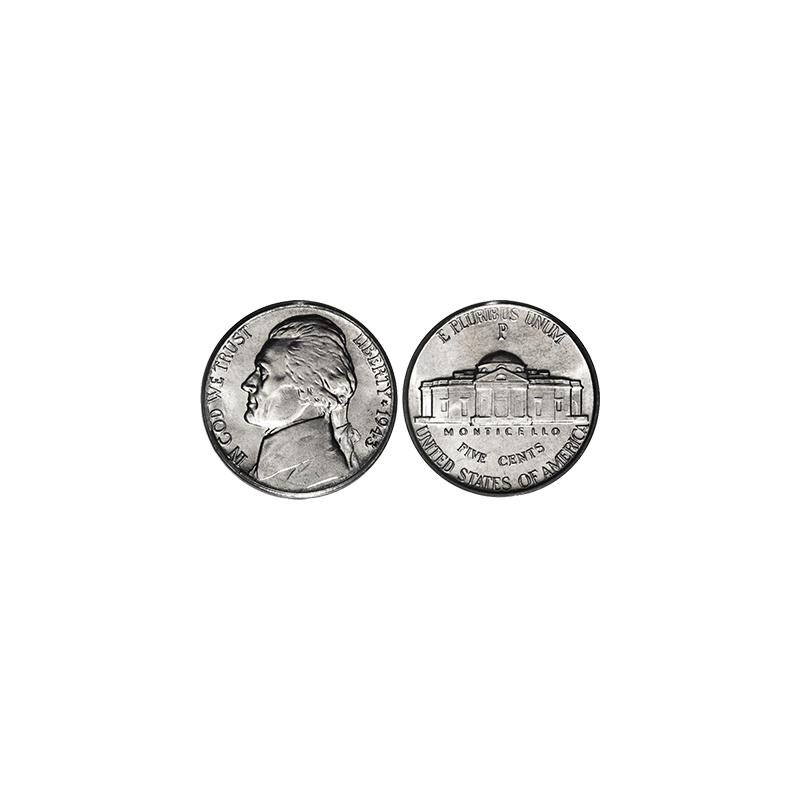 NICKEL REGULAR ONE ROLL OF 40 COINS wwww.magiedirecte.com