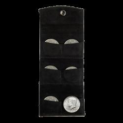 LEATHER COIN PURSE ( Six Demi Dollar) - UnderMagic wwww.magiedirecte.com