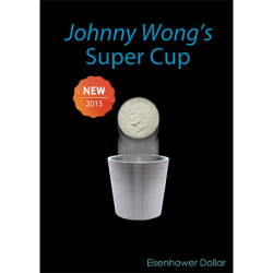 Super Cup (Eisenhower) by Johnny Wong - (1 dvd and 1 cup) Trick wwww.magiedirecte.com