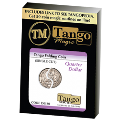 FOLDING COIN TRADITIONAL SINGLE CUT (Quarter) - Tango wwww.magiedirecte.com