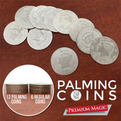 Palming Coin Set (U.S. Half design /12 piece) by Premium Magic - Trick wwww.magiedirecte.com