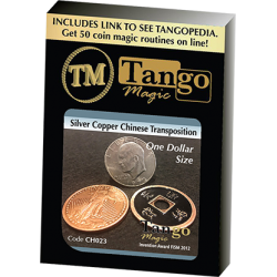 Dollar Size Silver Copper Chinese Transposition (CH023) by Tango Magic wwww.magiedirecte.com