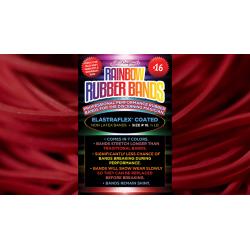 Joe Rindfleisch's SIZE 16 Rainbow Rubber Bands (Joe Rindfleisch - Rouge Pack) by Joe Rindfleisch - Trick wwww.magiedirecte.com