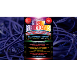 Joe Rindfleisch's SIZE 16 Rainbow Rubber Bands (Dan Harlan - Violet ) by Joe Rindfleisch - Trick wwww.magiedirecte.com