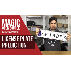 LICENSE PLATE PREDICTION - JAPAN (Gimmicks and Online Instructions) by Martin Andersen - Trick wwww.magiedirecte.com