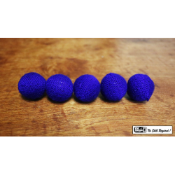 "Crochet 5 Ball combo Set (1""/Blue) by Mr. Magic - Trick wwww.magiedirecte.com"