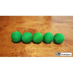 "Crochet 5 Ball combo Set (1""/Green) by Mr. Magic - Trick wwww.magiedirecte.com"