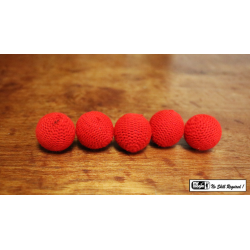 "Crochet 5 Ball combo Set (1""/Red) by Mr. Magic - Trick wwww.magiedirecte.com"