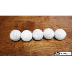 "Crochet 5 Ball combo Set (1""/White) by Mr. Magic - Trick wwww.magiedirecte.com"