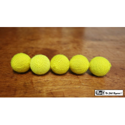 "Crochet 5 Ball combo Set (1""/Yellow) by Mr. Magic - Trick wwww.magiedirecte.com"