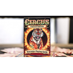 Limited Edition Circus Nostalgic Red Gilded Playing Cards wwww.magiedirecte.com