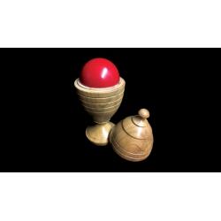 Deluxe Wooden Ball Vase by Merlins Magic - Trick wwww.magiedirecte.com