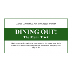 Dining Out! The Menu Trick - David Gerrard and Jim Steinmeier - Trick wwww.magiedirecte.com