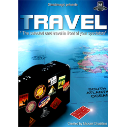 TRAVEL (Red) by Mickael Chatelain - Trick wwww.magiedirecte.com
