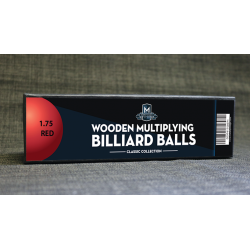 "Wooden Billiard Balls (1.75"" Red) by Classic Collections - Trick wwww.magiedirecte.com"