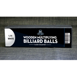 "Wooden Billiard Balls (1.75"" White) by Classic Collections - Trick wwww.magiedirecte.com"