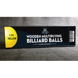 "Wooden Billiard Balls (1.75"" Yellow) by Classic Collections - Trick wwww.magiedirecte.com"