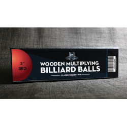 "Wooden Billiard Balls (2"" Red) by Classic Collections - Trick wwww.magiedirecte.com"